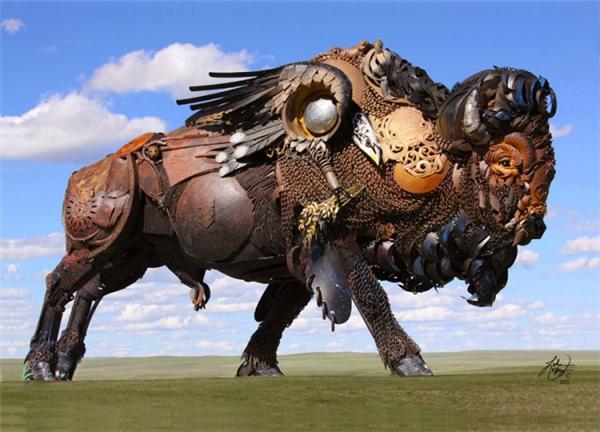 嚣张的金属雕塑
