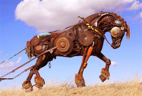 嚣张的金属雕塑(四)