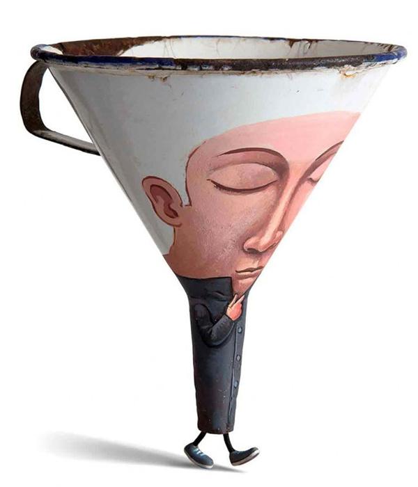 超现实主义插画雕塑(六)