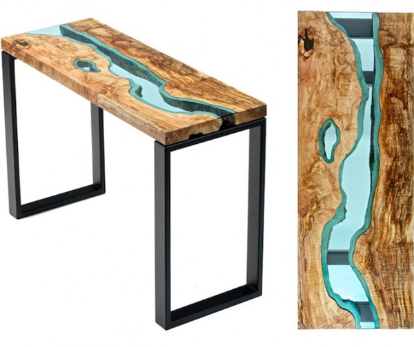 高端大气的玻璃河木桌(二)