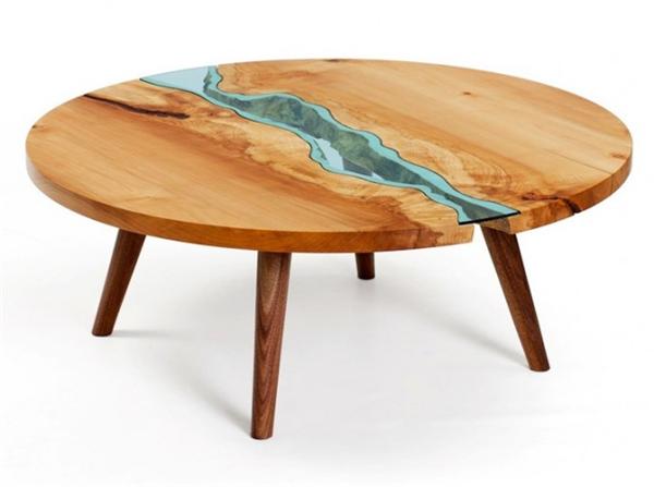 高端大气的玻璃河木桌(四)