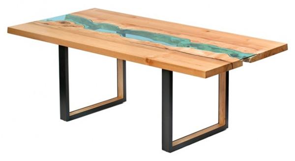 高端大气的玻璃河木桌(六)
