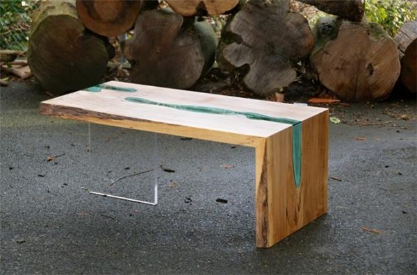 高端大气的玻璃河木桌(八)