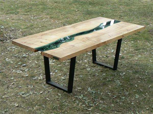 高端大气的玻璃河木桌(九)