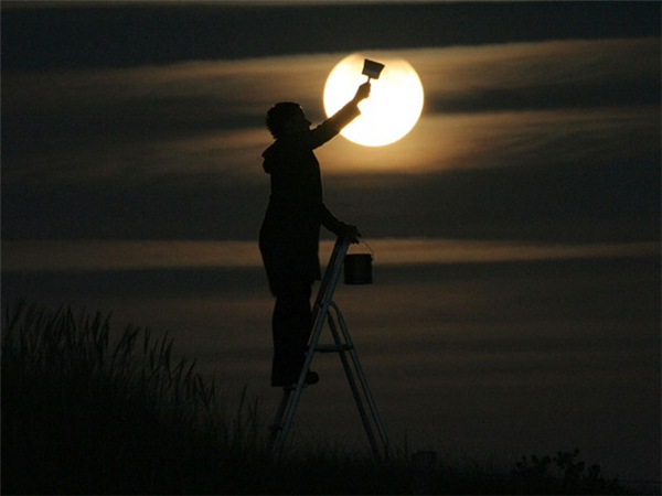 我和月亮玩游戏