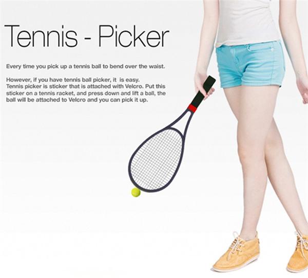 方便捡球的网球拍魔术贴