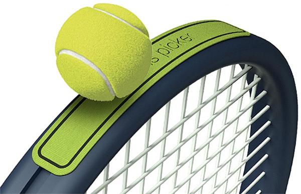 方便捡球的网球拍魔术贴(二)