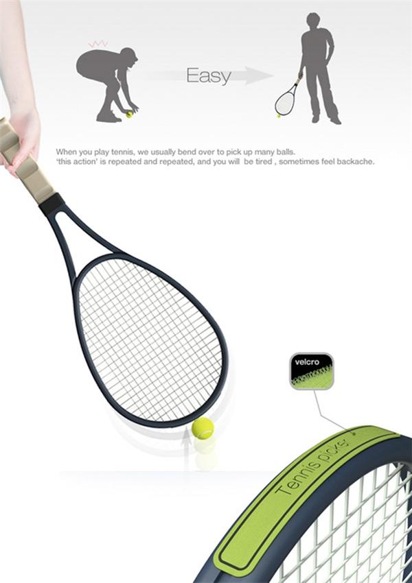 方便捡球的网球拍魔术贴(三)