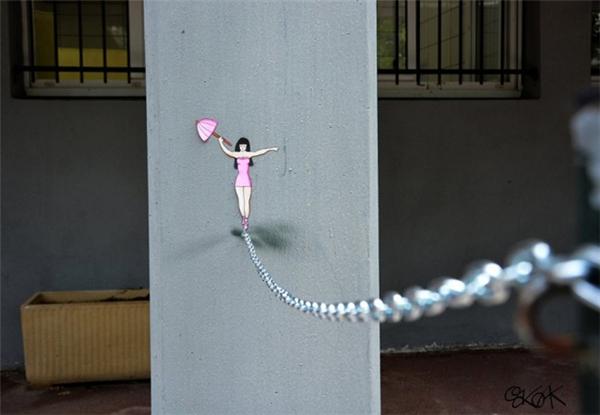 来自法国的幽默街头艺术