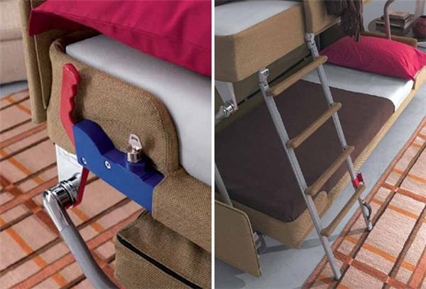 非常方便的上下铺沙发床(四)