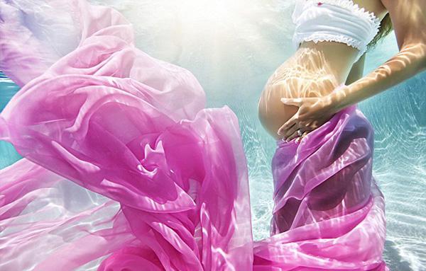 孕妇水下写真照(七)