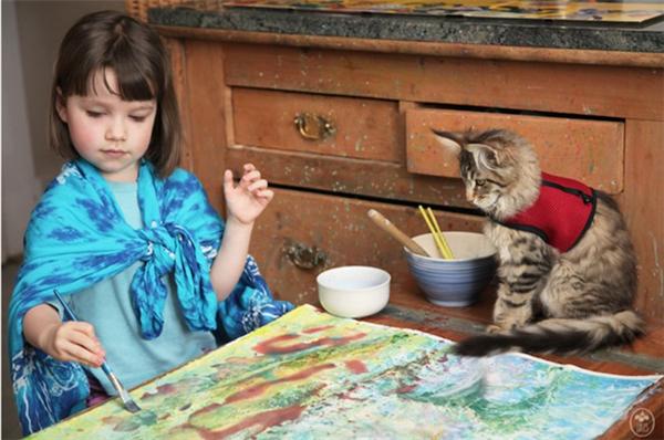 5岁自闭儿童的绘画和生活(二)