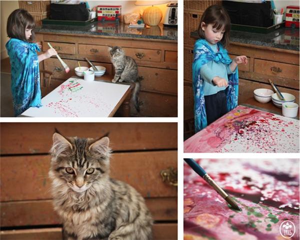 5岁自闭儿童的绘画和生活(八)