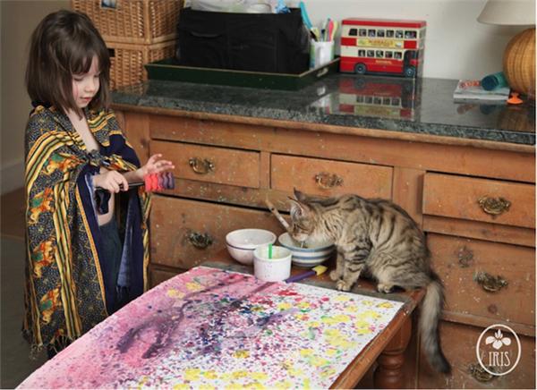 5岁自闭儿童的绘画和生活(十)