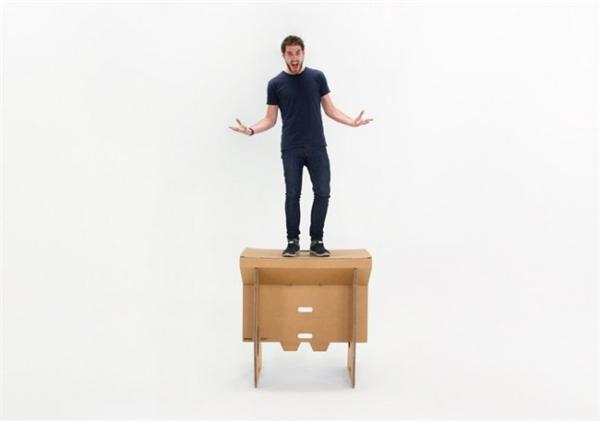 酷且方便的纸板折叠桌(四)