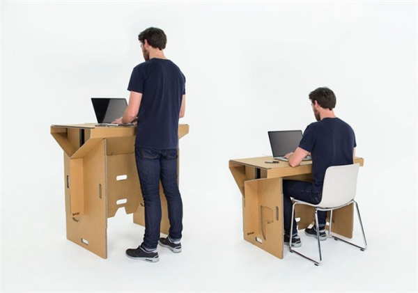 酷且方便的纸板折叠桌(五)