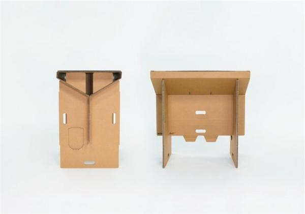酷且方便的纸板折叠桌(六)