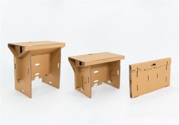 酷且方便的纸板折叠桌(七)