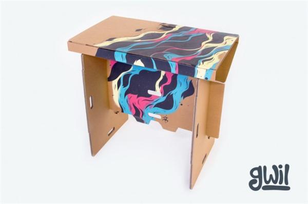 酷且方便的纸板折叠桌(八)