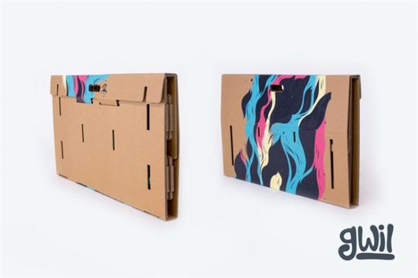 酷且方便的纸板折叠桌(九)