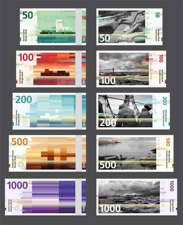 挪威国家纸币可以自己设计(八)