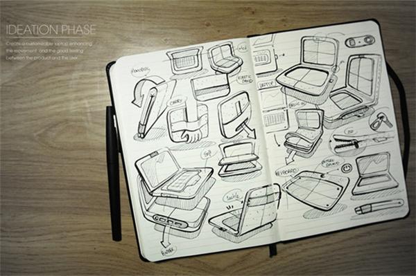 毛毡笔记本设计(九)