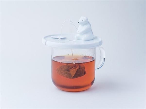 可爱的白熊钓鱼茶包架(二)