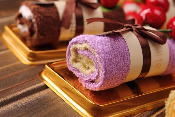 送给闺蜜的生日礼物 - 蛋糕毛巾