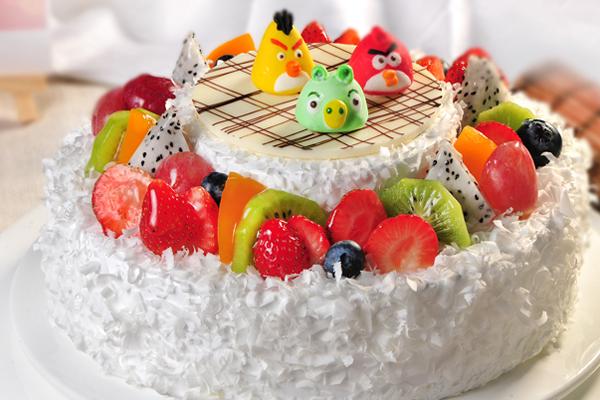 创意蛋糕 - 愤怒的小鸟