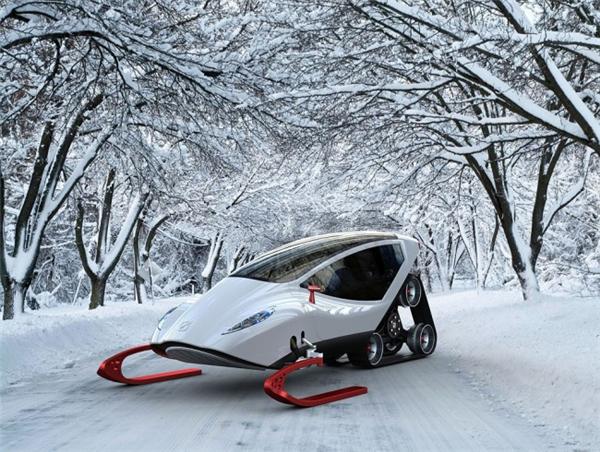 炫酷的概念雪地车设计