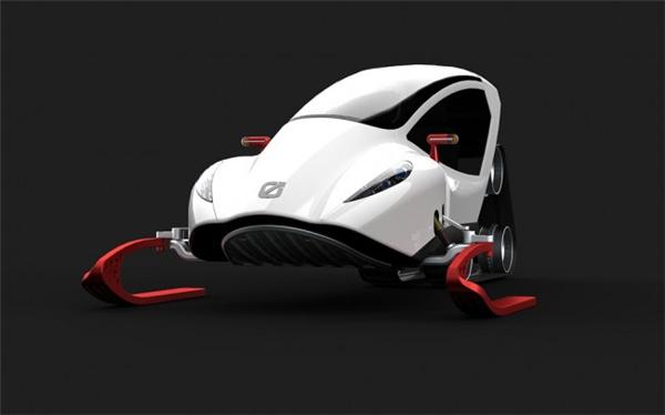 炫酷的概念雪地车设计(二)