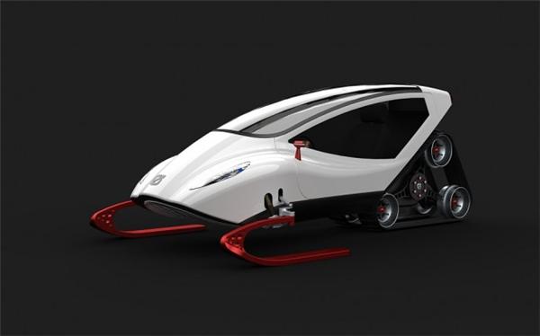 炫酷的概念雪地车设计(四)