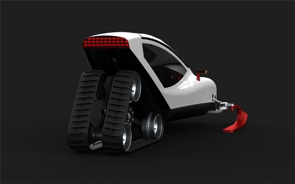 炫酷的概念雪地车设计(七)