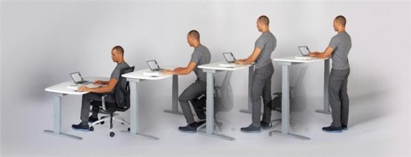 提醒勿久坐的工作台
