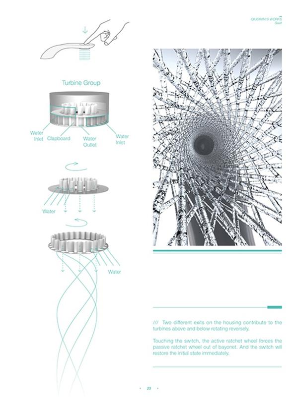 涡轮旋转水龙头设计(六)