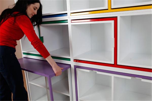 隐藏在书柜中的桌椅(七)