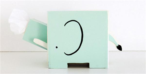 卡哇伊的动物纸巾盒