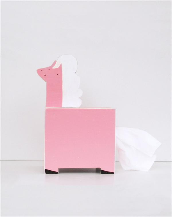 卡哇伊的动物纸巾盒(五)