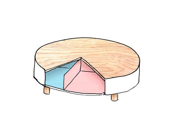 多功能圆饼桌子