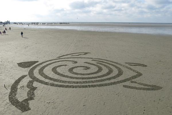 BeachBot 沙画机器人作品