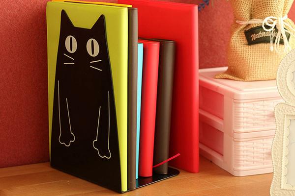 卡通猫书挡书架