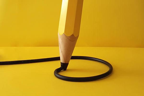 铅笔样式的台灯(二)