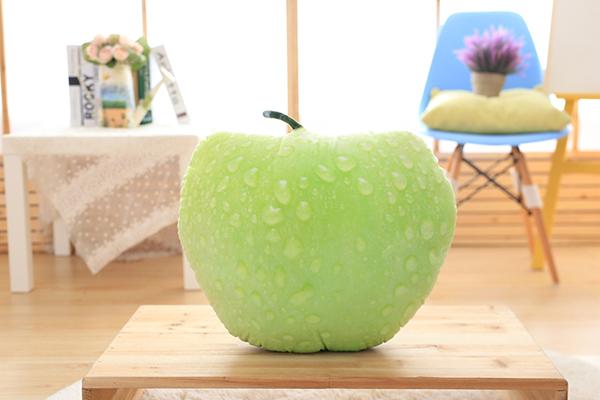防真水果抱枕(绿苹果)
