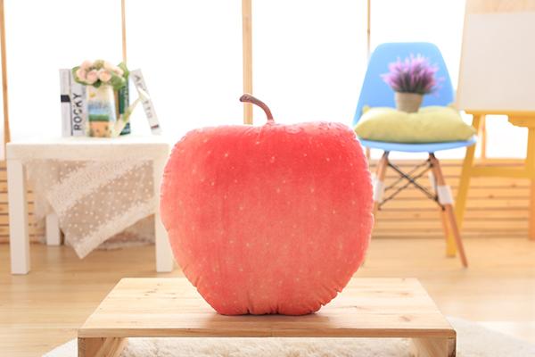 防真水果抱枕(红苹果)