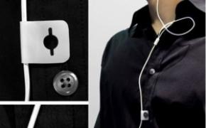 充满了时尚的耳机线纽扣