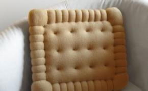 不可以吃掉的饼干抱枕