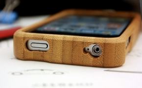 创意竹制iPhone4手机保护壳