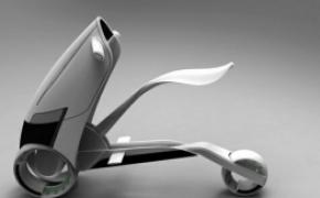 概念无线充电摩托车