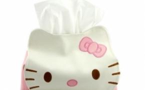 HelloKitty 创意皮革纸巾筒
