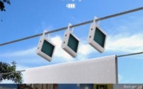 阳光下的太阳能蓄电池
